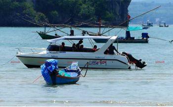 ระดมนักดำน้ำ ค้นหาทีมงานบริษัทนำเที่ยวสูญหายกลางทะเลชุมพร