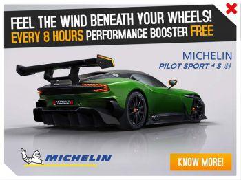 'มิชลิน' สร้างไอเท็มพิเศษ  สำหรับเกมแข่งรถ 'Asphalt 8'