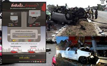 \'แว้น-ซิ่ง\'ทำคนไทยตายบนถนนยิ่งกว่าเมาแล้วขับ นักวิชาการชี้ต้องเข้มกม.คุมความเร็ว