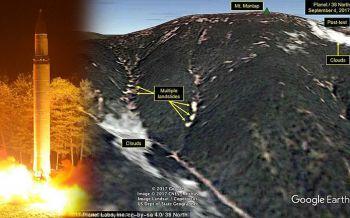 ภูเขาที่ทดสอบ\'นิวเคลียร์\'โสมแดงถล่ม หวั่นสารรั่วไหล-ทำภูเขาไฟเขตจีนปะทุอีกครั้ง