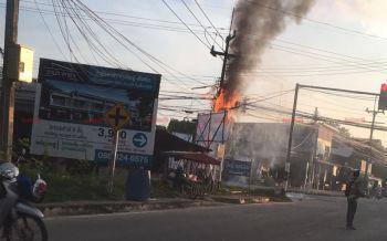 ชาวบ้านโวย! ไฟไหม้สายเคเบิ้ลลุกลามเข้าบ้าน จนท.เรียกจ่ายค่าเสียหายเอง