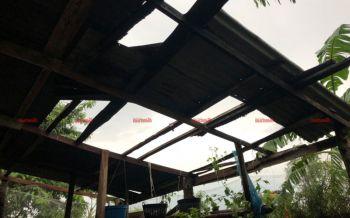 พายุฝนถล่ม\'กันทรารมย์\' บ้านพัก14หลัง-โรงเรียนอีก1