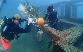 พังงาวางซั้งสาหร่ายเทียมฟื้นฟูปะการังสร้างแหล่งหลบภัยสัตว์น้ำหาดบางเนียง