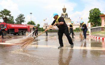 จิตอาสา\'เพชรบูรณ์\' บำเพ็ญสาธารณประโยชน์ ร่วมทำความสะอาด\'พุทธอุทยานเพชบุระ\'