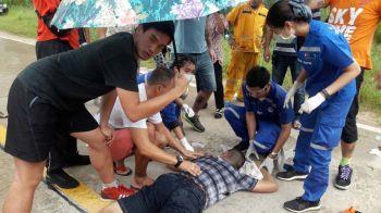 ทหารค่ายดังเมืองลพบุรีฝึกโดดร่ม เจอพิษลมหวนพัดดิ่งกระแทกพื้นเจ็บสาหัส