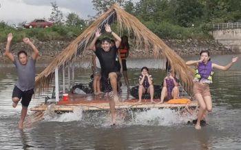 เที่ยวได้ทุกวันฟินได้ทุกฤดู!! ล่องแพโดดน้ำกลางอ่างฯหาดเจ้ารามสุโขทัย