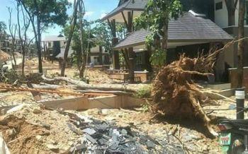 อาถรรพ์ป่าแหว่ง! ฝนถล่มดินทรุด เสาไฟหัก-ต้นไม้ใหญ่โค่น กลางบ้านศาลดอยสุเทพ
