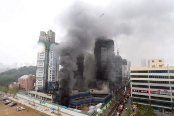 ไฟไหม้อาคารกำลังก่อสร้าง24ชั้นใน\'เกาหลีใต้\' เสียชีวิตแล้ว3ราย-เจ็บ37คน