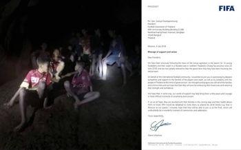 ฟีฟ่าส่งจดหมายเชิญ \'ทีมหมูป่า\' เป็นแขกพิเศษ ดูบอลโลกนัดชิงที่รัสเซีย