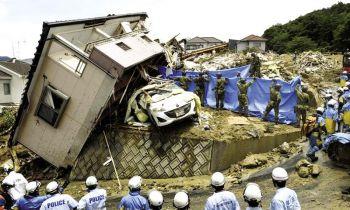ยอดตายน้ำท่วม-ดินถล่มญี่ปุ่น  พุ่งอย่างน้อย 112 ศพหลังฝนถล่มเป็นประวัติการณ์