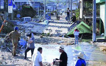 วิกฤติน้ำท่วมญี่ปุ่นยังไม่คลี่คลาย  พร้อมเตือนไต้หวันรอรับมือพายุ