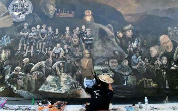 ให้โลกได้จดจำ! ภาพ THE HERO โดยศิลปินขัวเชียงรายใกล้เสร็จ เตรียมวาดเรื่องราวดอยนางนอน
