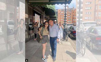 ผู้ชายที่รักที่สุด! \'อุ๊งอิ๊ง\'โพสต์ภาพคู่\'ทักษิณ\' ที่ห้างแฮร์รอดส์ ลอนดอน