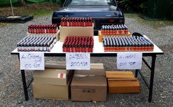 คิดว่าจะรอด! ส่งยาแก้ไอ500ขวดผ่านรถขนส่งเอกชน ทหารสกัดจับคาด่านมั่นคง