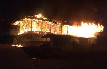 ไฟไหม้อาคารเรียนไม้\'รร.วัดหัวดงเหนือ\'วอดทั้งหลัง