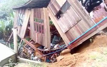 คลิปนาทีระทึก! ดินถล่มกลืนบ้าน-ร้านค้าหลายหลังพังลงเหวทางขึ้นภูชี้ฟ้า