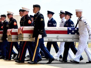 \'สหรัฐ\'จัดพิธีรับร่าง-กระดูก\'ทหาร\' จาก\'เกาหลีเหนือ\'กลับคืนสู่บ้านเกิด