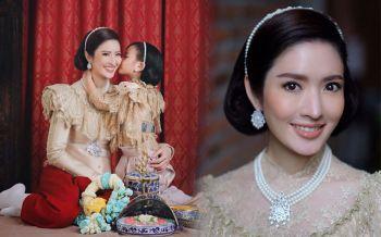 งดงาม! \'แอฟ-น้องปีใหม่\'ถ่ายแบบในชุดไทยแสนอบอุ่น