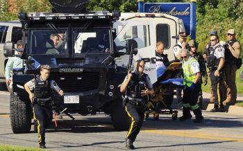 คนร้ายกราดยิงในแคนาดาดับ4ศพ  2ตำรวจพลีชีพ