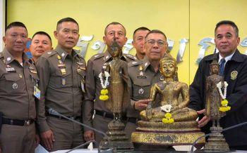 ส่งมอบพระพุทธรูป3องค์คืนกรมศิลฯ  ตรวจยึด39ปีไม่มีผู้แสดงตนเป็นเจ้าของ