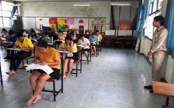 บุรีรัมย์สอบครูผู้ช่วยวันที่2 ตรวจเข้มก่อนขึ้นอาคารป้องกันทุจริต-ขาดสอบ310คน
