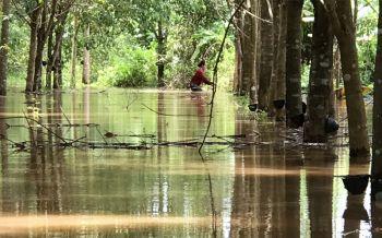 น้ำโขงหนุนสูงไหลท่วมพื้นที่เกษตรในอ.รัตนวาปี ตร.ลงพื้นที่ช่วยชาวบ้านขนของหนีน้ำ