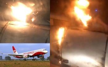 ผู้โดยสาร202ชีวิตสุดระทึก! เครื่องบิน\'รัสเซีย\'ไฟลุก ต้องลงจอดฉุกเฉิน (ชมคลิป)