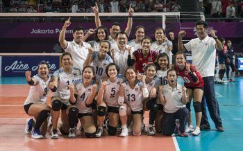 ทำได้! \'วอลเลย์บอลสาวไทย\'โค่นเกาหลีใต้ ลิ่วชิงเอเชียนเกมส์ครั้งแรก