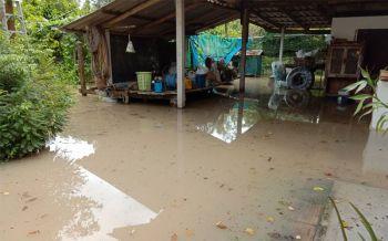 ชาวระยองโดนพิษฝนถล่ม น้ำเอ่อไหลท่วมบ้านเรือน โอดอยู่มา40ปีไม่เคยท่วม