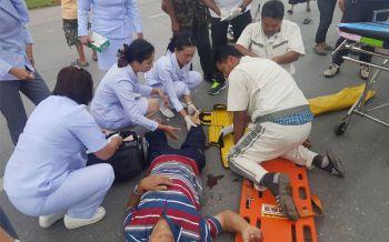ชาวเมืองคอนชื่นชม! กลุ่มพยาบาลตรังนั่งรถผ่านพบอุบัติเหตุรถชน รีบลงช่วยเหลือผู้บาดเจ็บ
