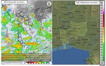 เตือนอันตราย'เหนือ อีสาน กลาง ตอ.'ฝนตกหนัก 'กทม.'70%