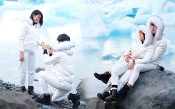 \'พุฒ\'คุกเข่าขอ\'จุ๋ย\'แต่งงาน ท่ามกลางบรรยากาศโรแมนติกที่ไอซ์แลนด์