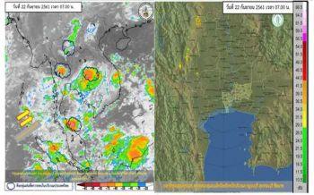 'ภาคตะวันออก-ใต้'ฝนตกต่อเนื่อง 'กทม.'ร้อยละ40