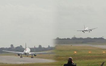บินโดยสาร\'แอร์ฟรานซ์\'ยกเลิกลงจอด เหตุเจอลมแรงพัดเครื่องเฉออกนอกเส้นทาง (ชมคลิป)