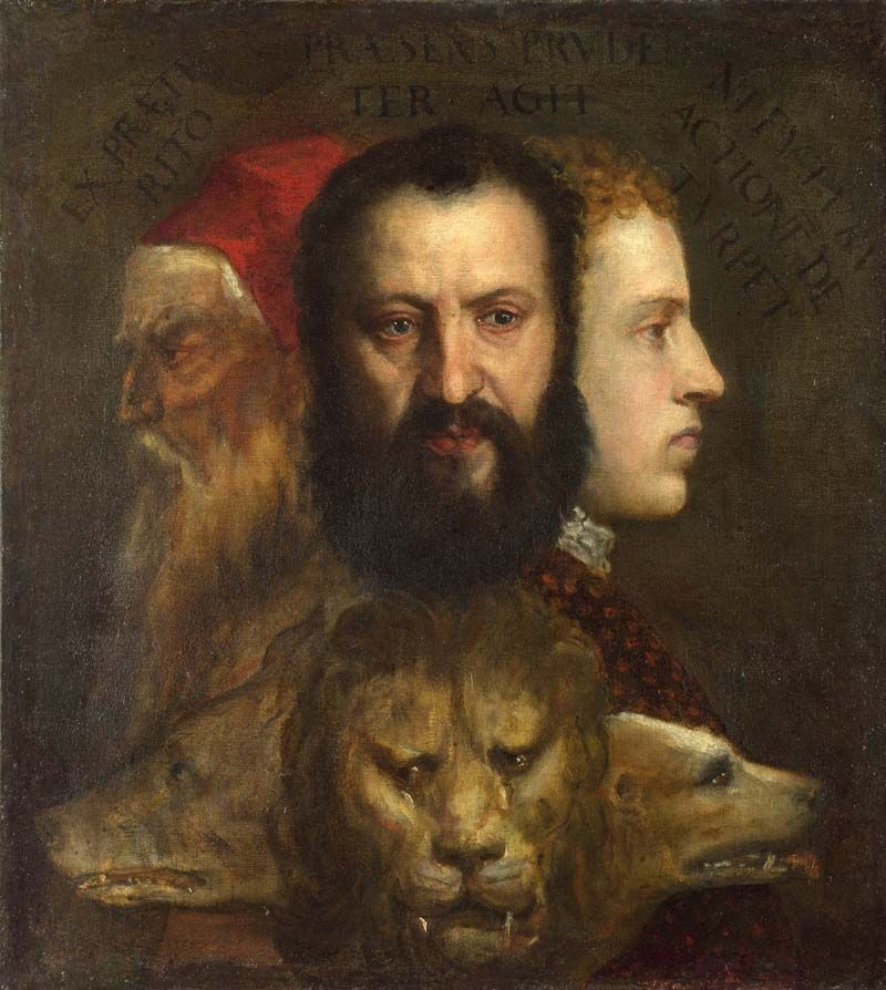 Allegory of Prudence ของ Titian