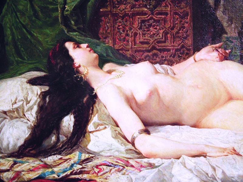 The Odalisque detail