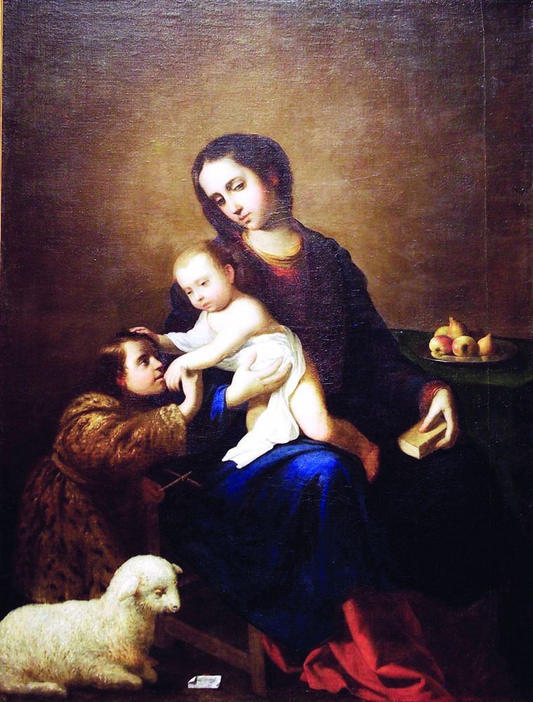 The Virgin with the Infant Jesus and the infant Saint John the Baptist